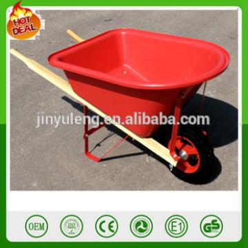 Wh0201 Plastic tray wood handle wheel barrow toy for children kid's wheelbarrow