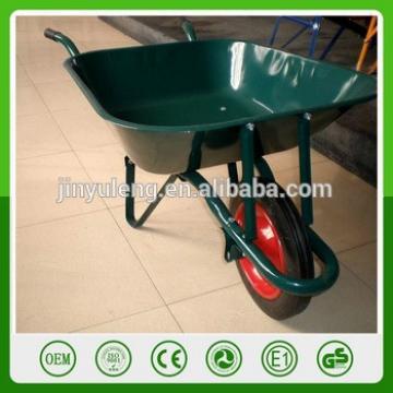 WbB6501 wheelbarrow with puncture proof solid rubber wheel concrete wheel barrow trolley handcart pushcart