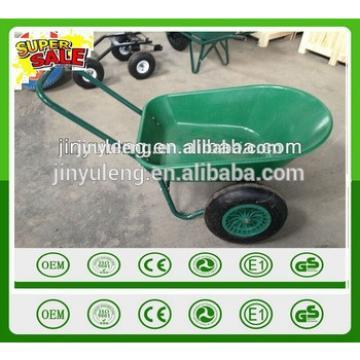 prower load large two wheels wheelbarrow , plastic tray two wheels wheelbarrow , hand cart, trolleys
