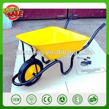 WB3800 wholesale selling QingDao power solid wheel metal 60L steel structure wheelbarrow Cement mixing wheel barrow for sell