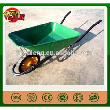 Solid rubber wheel Small volume capacity POWER metal wheelbarrow for diggings mining area