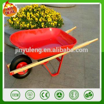 WB6101 New garden Wood handle plastic tray wheelbarrow