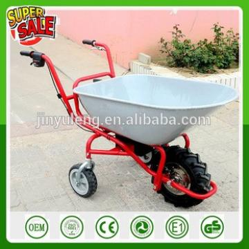 Four wheel Electric Battery Power Wheelbarrow for dirt, sod, sand, shrubs, wood, rocks transport