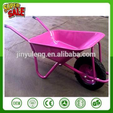 WB5009 hot sale durable steel construction wheel barrow wheelbarrow load 120kg trolley cart concrete pushchair