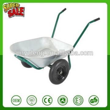 WB6211 Two wheels aluminium alloy trolley prower wheelbarrow double wheel trolley garden wheelbarrow dump wagon tool cart