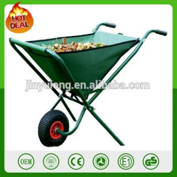 Portable canvas compare folding garden trolleys garden tool cart 600D polyester garden cart wagon wheelbarrow