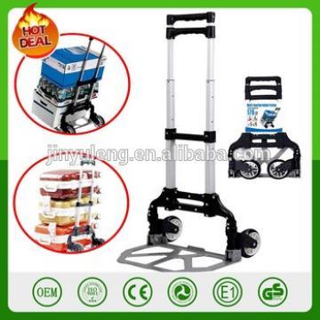 two wheels Steel & Aluminum adjustable telescopic Folding Hand Truck,scalable fold hand trolley wagon