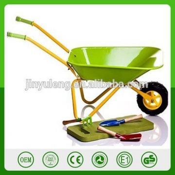 hot seal CHILDRENS P METAL WHEELBARROW tool for kins Garden Kids Green Metal Wheelbarrow toys