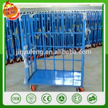 1000k capacity Logistics warehousing warehouse Storage platform roll container move tray Logistics flat fold wagon hand trolley