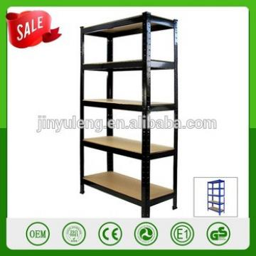 Five layers cheap no bolt Light Weight Shop Racks Shelves for Warehouse rotating storage shelf racking