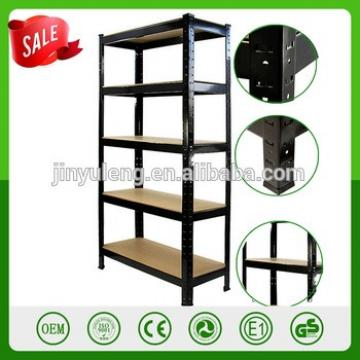 Easy assemble disassemble Single-sided Feature and Metallic Material pharmacy shelving MDF board metal storage rack shelf