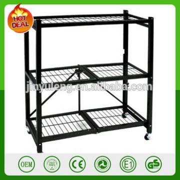 Heavy Duty Steel 4-Shelf Folding log rack General Purpose Storage Rack Shelves