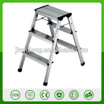 330-Pound Capacity Ultra Light Aluminum 3 Step ladder Platform Folding Stool Non Slip Safety Tread Space Saving Industrial Hom