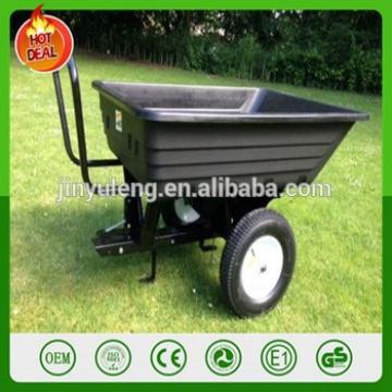 popular heavy dump bucket hopper tray tool cart lawn mower atv trailer fortractor ATV trailer tractor