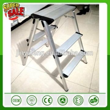 3 Step Aluminum domestic Lndustrial Ladder Folding Platform Work Stool 330 lbs Load Capacity