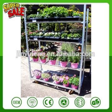 Portable Fruit flower nursery plant exhibition transfer trolley truck Display Storage show Rack move tool cart