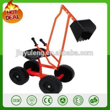 4 wheel move mobile Children Digger Metal 360 rotating Sandpit Kids excavator Push-car Sandbagger digger