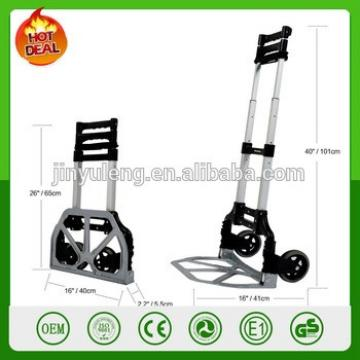 2 wheels Aluminum adjustable telescopic Folding carry cart hand Camping Travel Luggage Folding Cart Hand Dolly Trolley