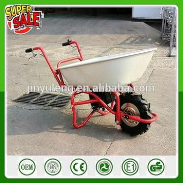 24V 3 wheel Electric Battery motor Power Wheelbarrow for dirt sod sand shrubs wood rocks transport