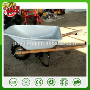 230W 24v Wood handle Electric Battery motor Power Wheelbarrow trolley cart for dirt sod sand shrubs wood rocks transport