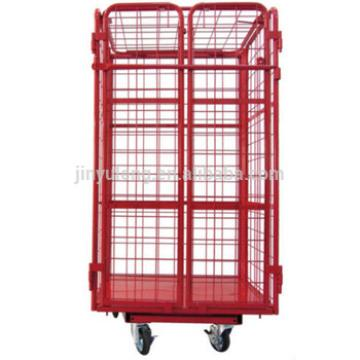 foldable cage trolley for supermarkt workshop logistics warehouse