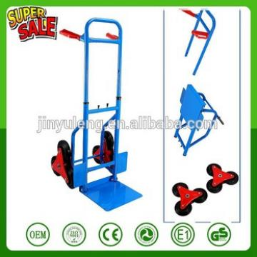 200Kg capacity 6 Wheel Stair Climbing hand truck Trolley Barrow Cart Garden Tool telescopic handle hand truck hand trolley