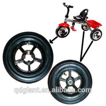 Baby toys car pneumatic wheel with plastic rim