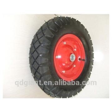 Pneumatic rubber wheel 4.00-8 with square pattern tire