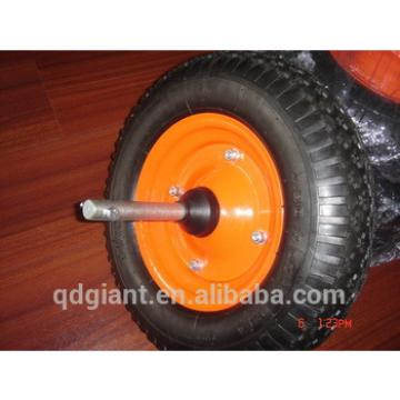 4.00-8 diamond pattern Rubber air wheel with axle