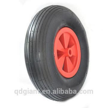 Pneumatic rubber wheel 3.50-6 with plastic rim