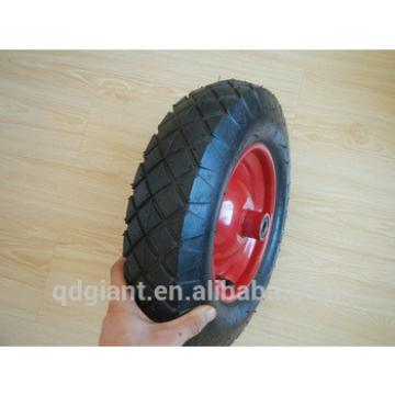 Good bearing Pneumatic rubber wheel 3.50-8 with bend valve
