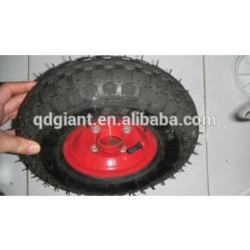 Pneumatic cart wheel 3.50-5 with screwed metal rim