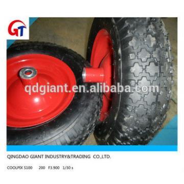 Ball bearings hand trolley rubber wheel 4.00-8