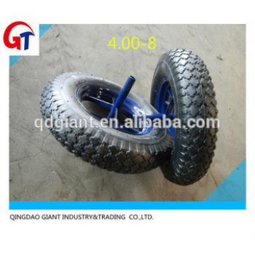 china direct supplier 4.00-8 tire used in wheel barrow