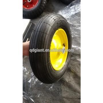 Wheelbarrow rubber wheel 3.50-8 with line pattern