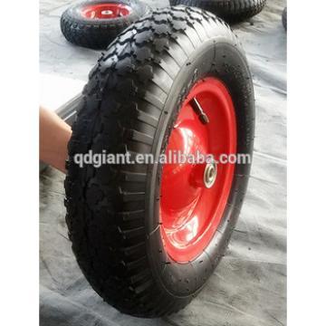 diamond pattern pneumatic rubber wheel 4.00-8