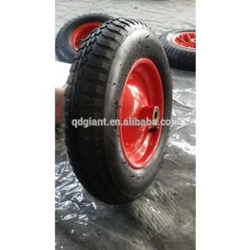 Wheelbarrow air wheel with steel rim , air tire , inner tube