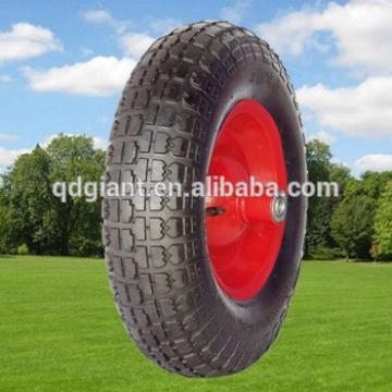 Balloon wheel for construction tools and equipment wheelbarrow