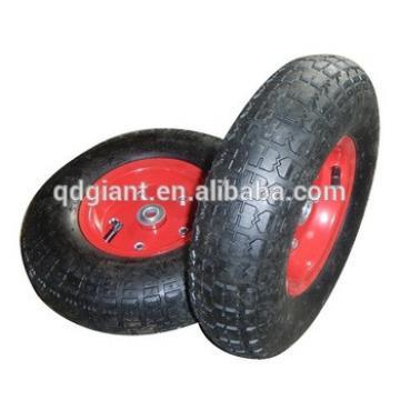Rubber pneumatic wheelbarrow wheel 4.00-6