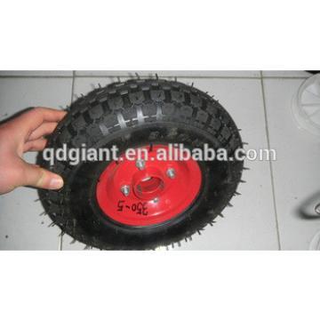 pneumatic rubber wheelbarrow wheel 3.50-5