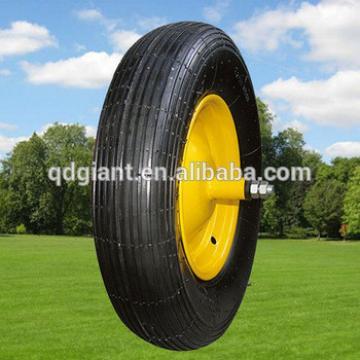 """14"""" Line pattern pneumatic rubber wheel for wheelbarrow"""