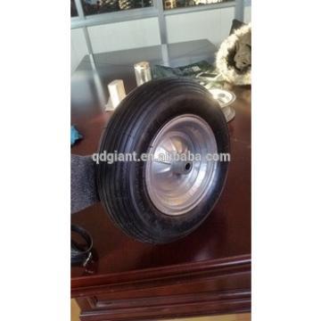 4.00-8 wheelbarrow air tire with galvanized rim