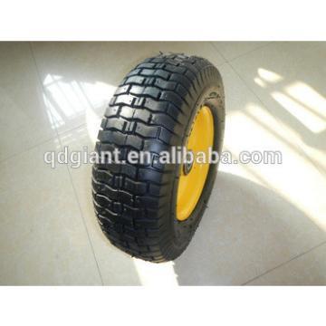 16 inch metal rim pneumatic rubber wheel for wagon 5.00-8