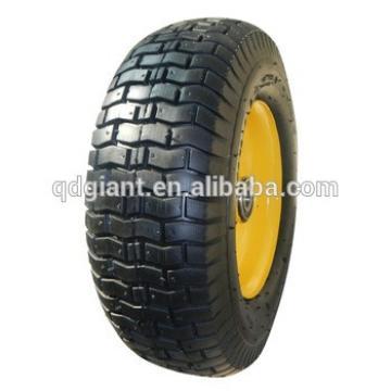 "16"" 5.00-8 metal rim pneumatic rubber wheel for wagon"