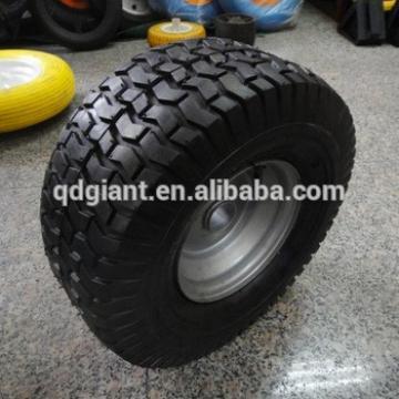 """15"""" x6.00-6 steel rim rubber pneumatic lawn mower wheel"""