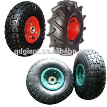 """10"""" Flat Air Free Replacement Tires For Hand Truck Dolly Cart Wheel 3.50-4"""