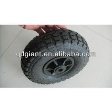 Small rubber wheel for garden tool cart