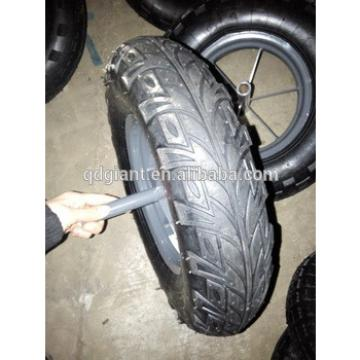 "16""x4.00-8 wheel barrow pneumatic tyre for South America"