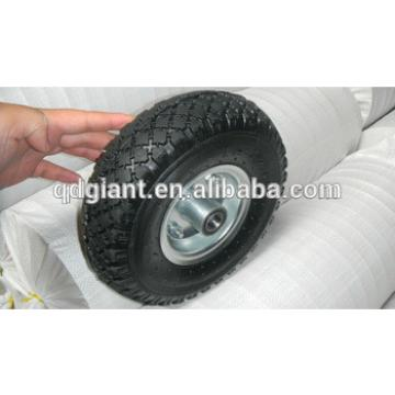 Steel rim handcart rubber wheel 3.00-4