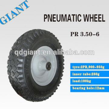High rubber content plastic rim wheelbarrow tire 3.50-6